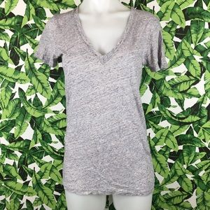 5 for $25 PINK VS Gray Heathered V Neck Tee Shirt